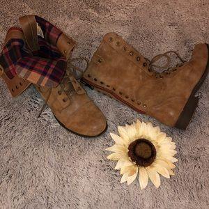 Madden Girl Plaid Combat boots.